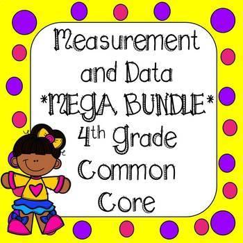 Measurement and Data Task Cards & Worksheets *Mega Bundle* 4th Grade CCSS