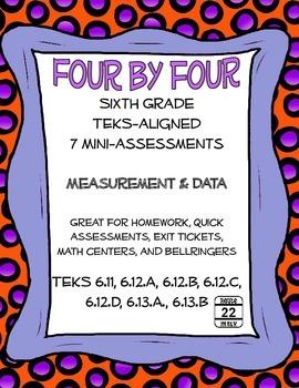 6th Grade Math TEKS Measurement and Data Mini-Assessments