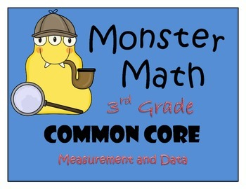 Measurement and Data - Monstrous Math Game for Third Grade