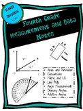 Measurement and Data Notes