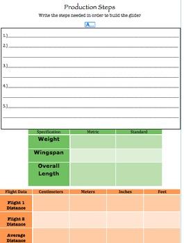Measurement and Data Performance Task (Cardboard Gliders)