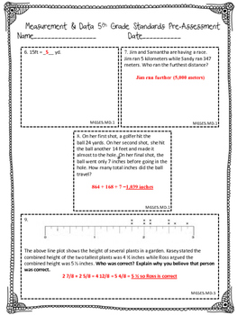 Measurement and Data Pre and Post Assessment