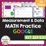 Measurement and Data RIT Band 221-230 Google Classroom Dis
