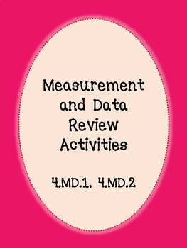 Fourth Grade Measurement and Data Review Activities