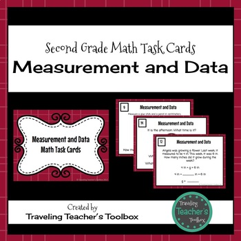 Measurement and Data - Second Grade Math Task Cards