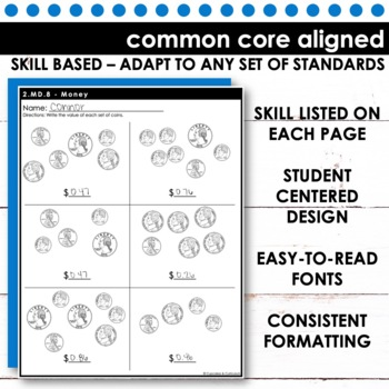 Measurement and Data Skill Checks for Second Grade