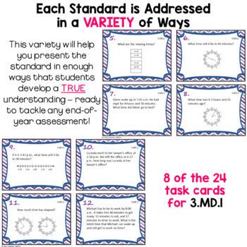 Measurement and Data Task Card Bundle - 3rd Grade 3.MD.1 - 3.MD.8