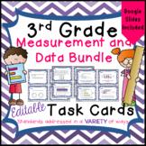 Measurement and Data Task Card Bundle - 3rd Grade - Distance Learning - Google