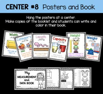 Measurement and Data Vocabulary Book - FREE - Kindergarten Math Center