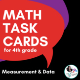 Measurement and Data Task Cards for 4th Grade