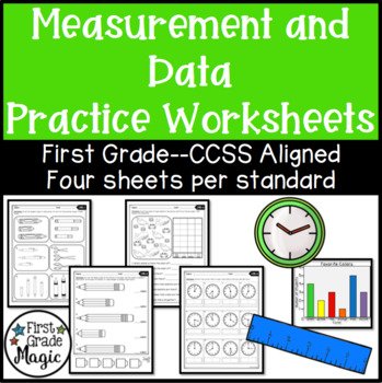Common Core Measurement and Data Worksheets First Grade