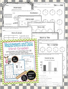 Measurement and Data Worksheets/Activities - First Grade Common Core