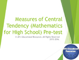 Measures of Central Tendency Pre-Test [NEW PRODUCT- Product TEST]