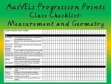 Measurement and Geometry - AusVELs progression points - Cl