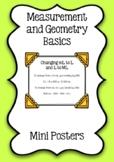 Measurement and Geometry Basics - Mini Posters