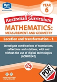 Measurement and Geometry: Location and transformation 1 – Year 6