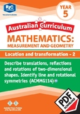 Measurement and Geometry: Location and transformation 2 – Year 5