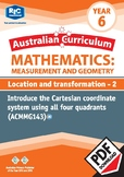 Measurement and Geometry: Location and transformation 2 – Year 6