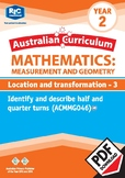 Measurement and Geometry: Location and transformation 3 – Year 2