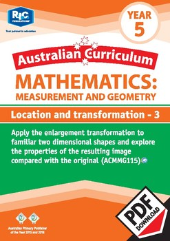 Measurement and Geometry: Location and transformation 3 – Year 5