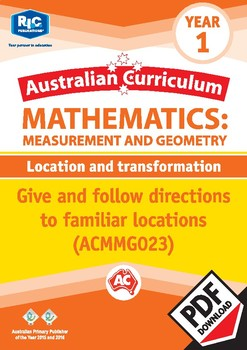 Measurement and Geometry: Location and transformation – Year 1