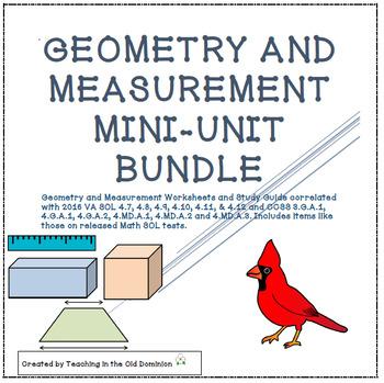 Measurement and Geometry Mini-Units BUNDLE