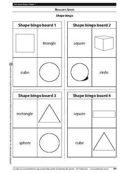 Measurement and Geometry: Shape – Foundation