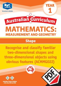 Measurement and Geometry: Shape – Year 1
