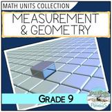 Measurement and Geometry Unit - Ontario Math - Grade 9