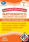 Measurement and Geometry: Using units of measurement 1 – Year 1