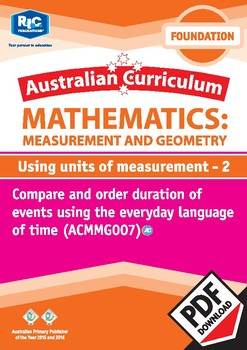 Measurement and Geometry: Using units of measurement 2 – Foundation