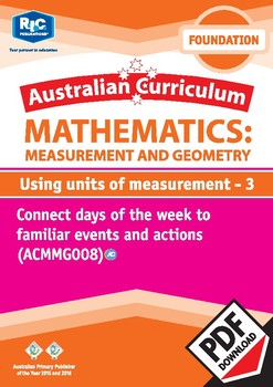 Measurement and Geometry: Using units of measurement 3 – Foundation