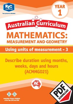 Measurement and Geometry: Using units of measurement 3 – Year 1