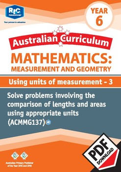 Measurement and Geometry: Using units of measurement 3 – Year 6