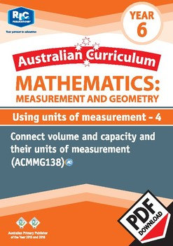 Measurement and Geometry: Using units of measurement 4 – Year 6