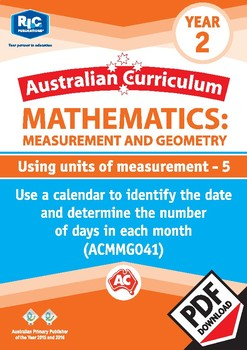 Measurement and Geometry: Using units of measurement 5 – Year 2