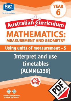 Measurement and Geometry: Using units of measurement 5 – Year 6