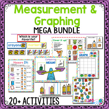 Measurement and Graphing   Kindergarten Math Centers