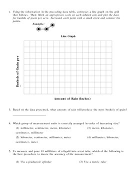 Measurement and Graphing Quiz