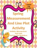 Measurement and Line Plot Activity - Common Core CCSS.3.MD.B.4 - Spring Themed