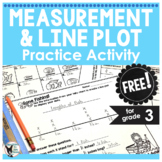 Measurement and Line Plot Practice Activity