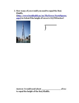 Measurement and Long Division Long Term Project