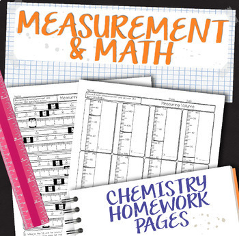 Measurement and Math for Chemistry Homework Pages