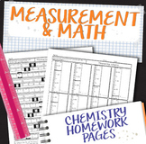 Measurement and Math for Chemistry Homework Unit Bundle