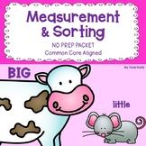 Measurement and Sorting Activities (Kindergarten Math)