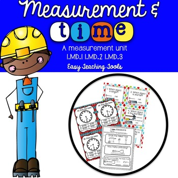 Measurement and Time Math Centers 1st grade