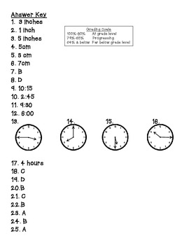 Measurement and time test