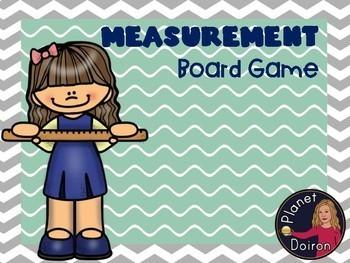 Measurement board game math center
