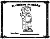 Measurement book in Spanish/ Mi cuaderno de medidas