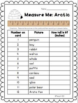Winter Math Activity Measurement